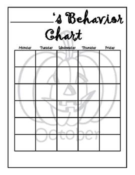 Monthly Behavior Charts