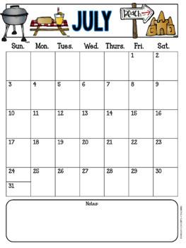 Monthly Behavior Charts & Calendars {EDITABLE}