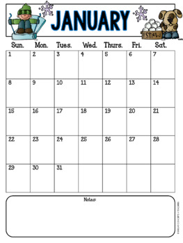 Monthly Behavior Charts Calendars