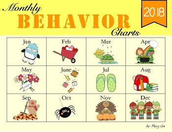 Monthly Behavior Charts (English)