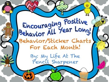 Monthly Behavior Charts - Sticker Charts