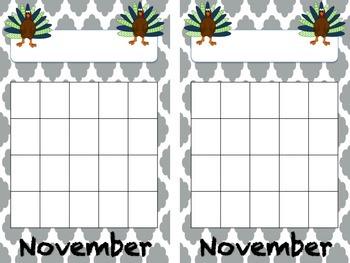 Monthly Behavior Charts - Sticker Charts