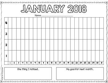 Monthly Behavior Graphs & Behavior Posters{Editable}