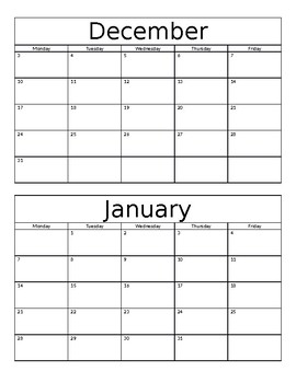 Monthly Behavior Log