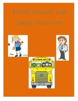 2014-2015 Monthly Behavior Logs