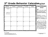 Monthly Behavior Management Calendar (editable)
