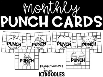 Monthly Behavior Punch Cards