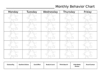 Monthly Behavior Record