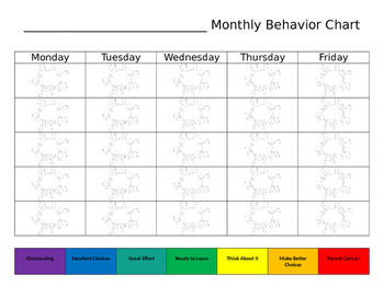 Monthly Behavior Record