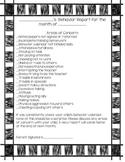 Monthly Behavior Report