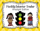 Monthly Behavior Tracker:  Stoplight Edition