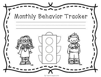 Monthly Behavior Tracker:  Stoplight Edition