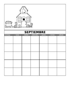 Monthly Bilingual Calendars