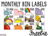 Monthly Bin Labels FREEBIE