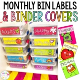 Monthly Bin Labels and Binder Covers