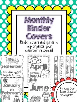 Monthly Binder Covers!