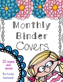 Monthly Binder Covers (1.5 inch)