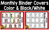 Monthly Binder Covers BUNDLE