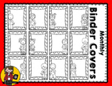 Monthly Binder Covers   BW