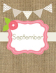 Monthly Binder Covers-Burlap, Floral and Pastel (Spines Included)