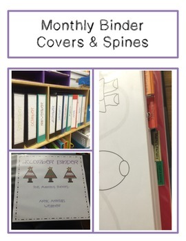 Monthly Binder Covers & Spines