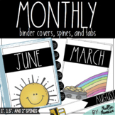 Monthly Binder Covers, Spines, & Tabs