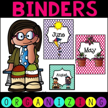 Monthly Binder Covers, Spines, and Labels