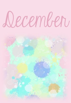 Monthly Binder Covers - Watercolor
