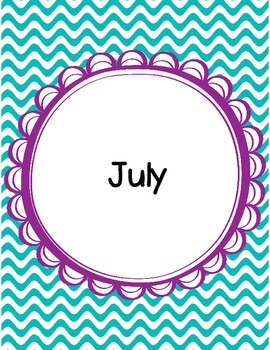 Free Monthly Binder Covers - Waves