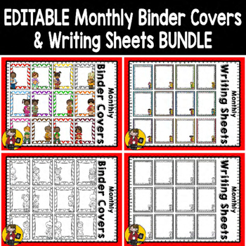Monthly Binder Covers & Writing Sheets {Bundle}