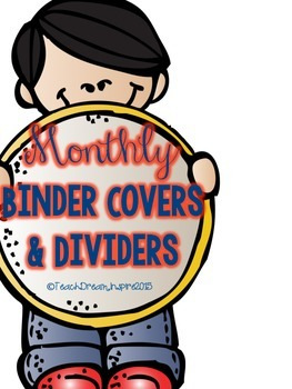 Monthly Binder Covers and Dividers