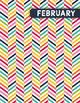 Monthly Binder Covers and Labels - Herringbone