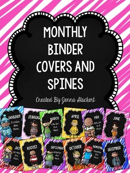 Monthly Binder Covers and Spines