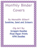 Monthly Binder Covers for Teachers
