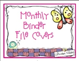 Monthly Binder File Covers