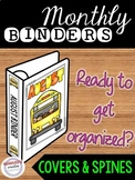 Monthly Binder Labels - Binder Covers and Spines