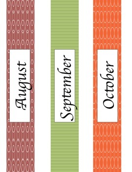 Monthly Binder Labels {GET ORGANIZED}