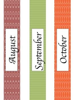 Monthly Binder Labels {GET ORGANIZED}