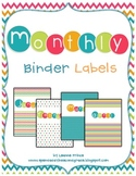 Monthly Binder Labels {to get organized!}