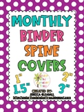 Monthly Binder Spine Labels