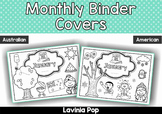 Monthly Binder and Journal Covers