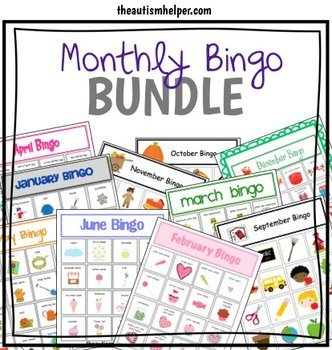 Monthly Bingo BUNDLE