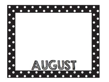Monthly Birthday Board