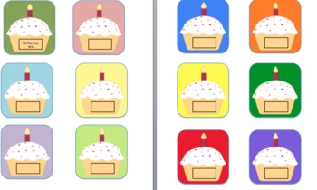 Monthly Birthday Chart- Cupcakes