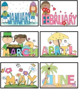 Monthly Birthday Chart- Cupcakes