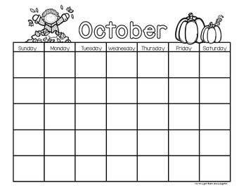 Monthly Black & White Calendars to Use Year After Year