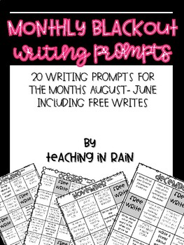 Monthly Blackout Writing Prompts