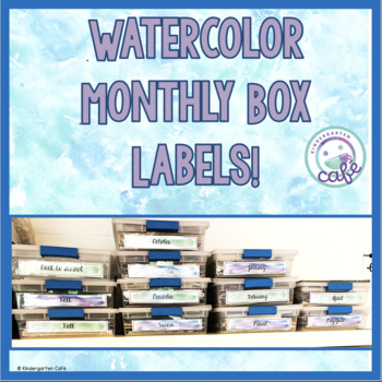 Monthly Book Box Labels