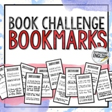 Monthly Book Challenge Bookmarks for Middle or High School