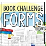 Monthly Book Challenge Forms for Middle and High School In